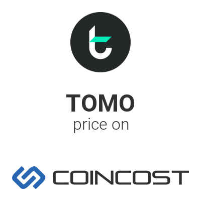 Graphic of TomoChain coin price TOMO history