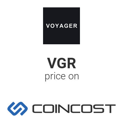 Voyager Vgr Price Chart Online Vgr Market Cap Volume And Other Live And Historical Cryptocurrency Market Data Voyager Forecast For 2021 Coincost